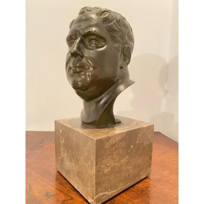 Vitellius, Antique Bronze Bust Of A Roman Emperor XIX Eme Century