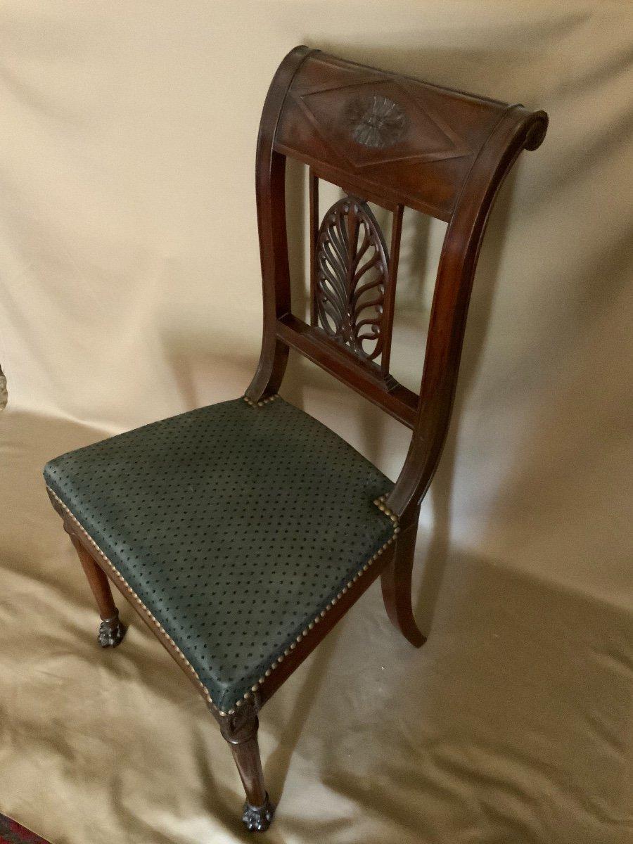 Six chaises Empire