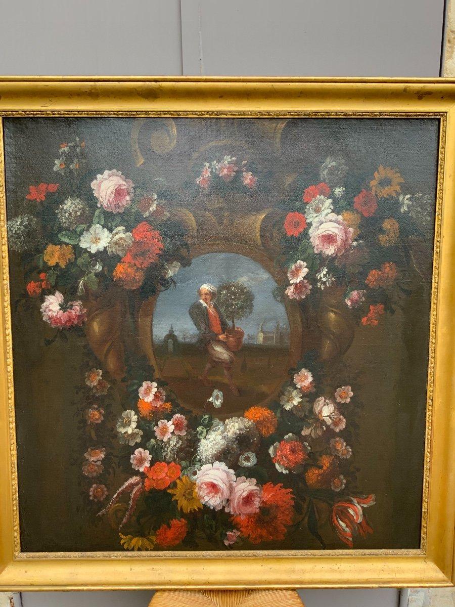 Huile Sur Toile, Bouquets De Fleurs, XVIIIe Siècle