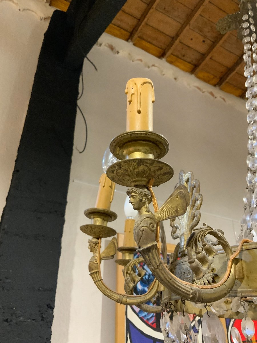 Empire Period Chandelier, 12 Lights-photo-3