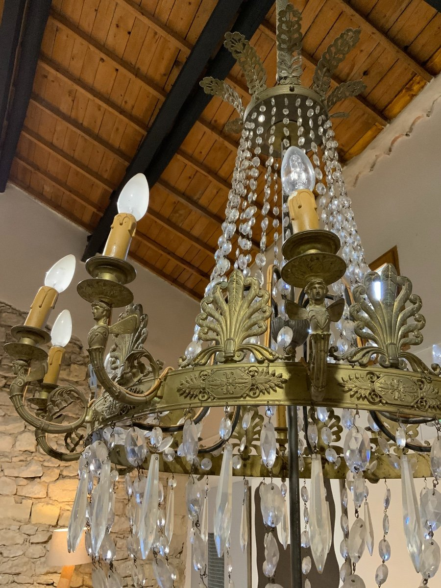 Empire Period Chandelier, 12 Lights-photo-4