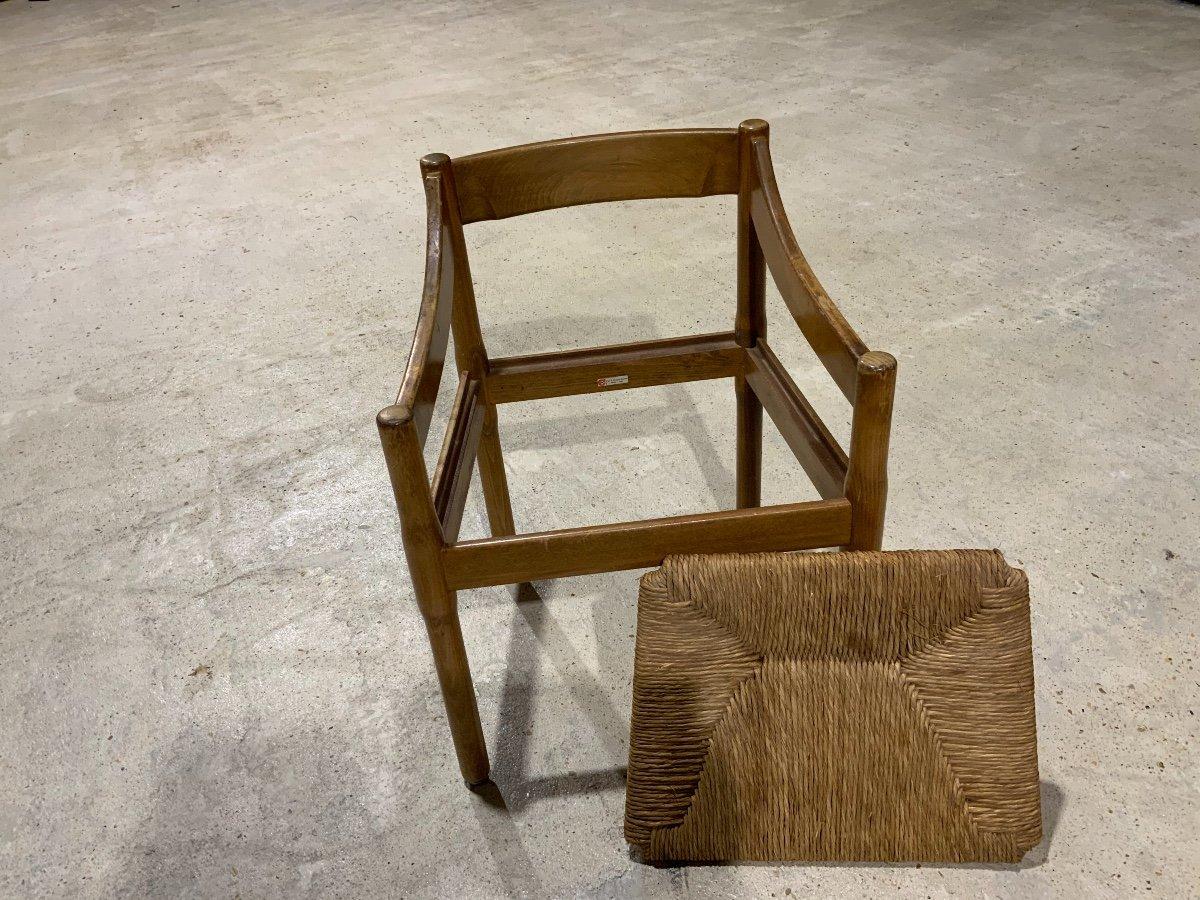 Suite De 6 Chaises «carimate» Par Vico Magistretti (1920-2006)-photo-1