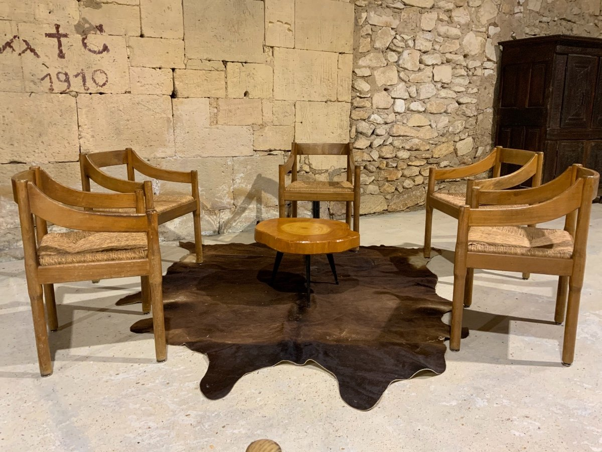 Suite De 6 Chaises «carimate» Par Vico Magistretti (1920-2006)-photo-4