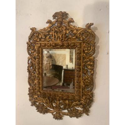 17th Century Golden Wood Mirror