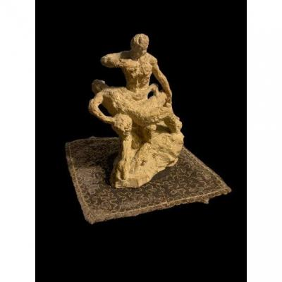 Terracotta Sculpture By Carl Frisendahl