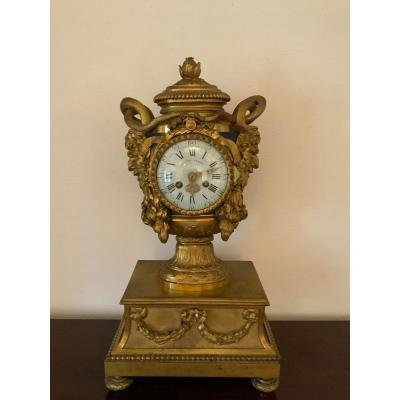 Gilt Bronze Clock, Attributed To Robert Osmond