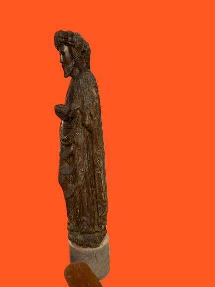 Grande Statue Travail Des Flandres Du XIVe - XVe Siècle-photo-4
