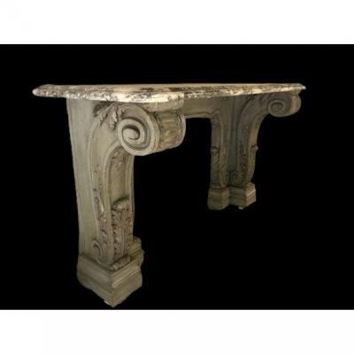 Louis XV Painted Wood Console