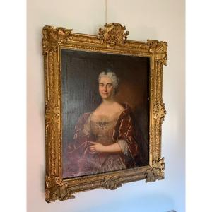 Tableau Portrait D'une Dame De Qualité époque Louis XIV