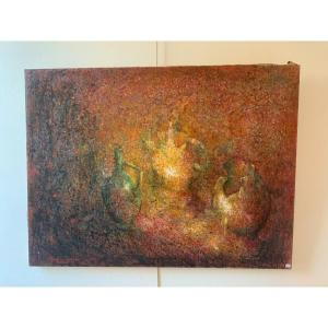 Oil On Canvas Signed P; Donadio