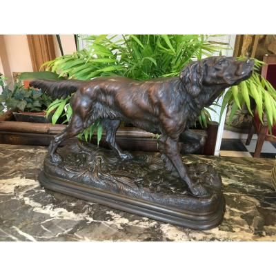 Bronze Dog At The Stop Of Jules Moigniez