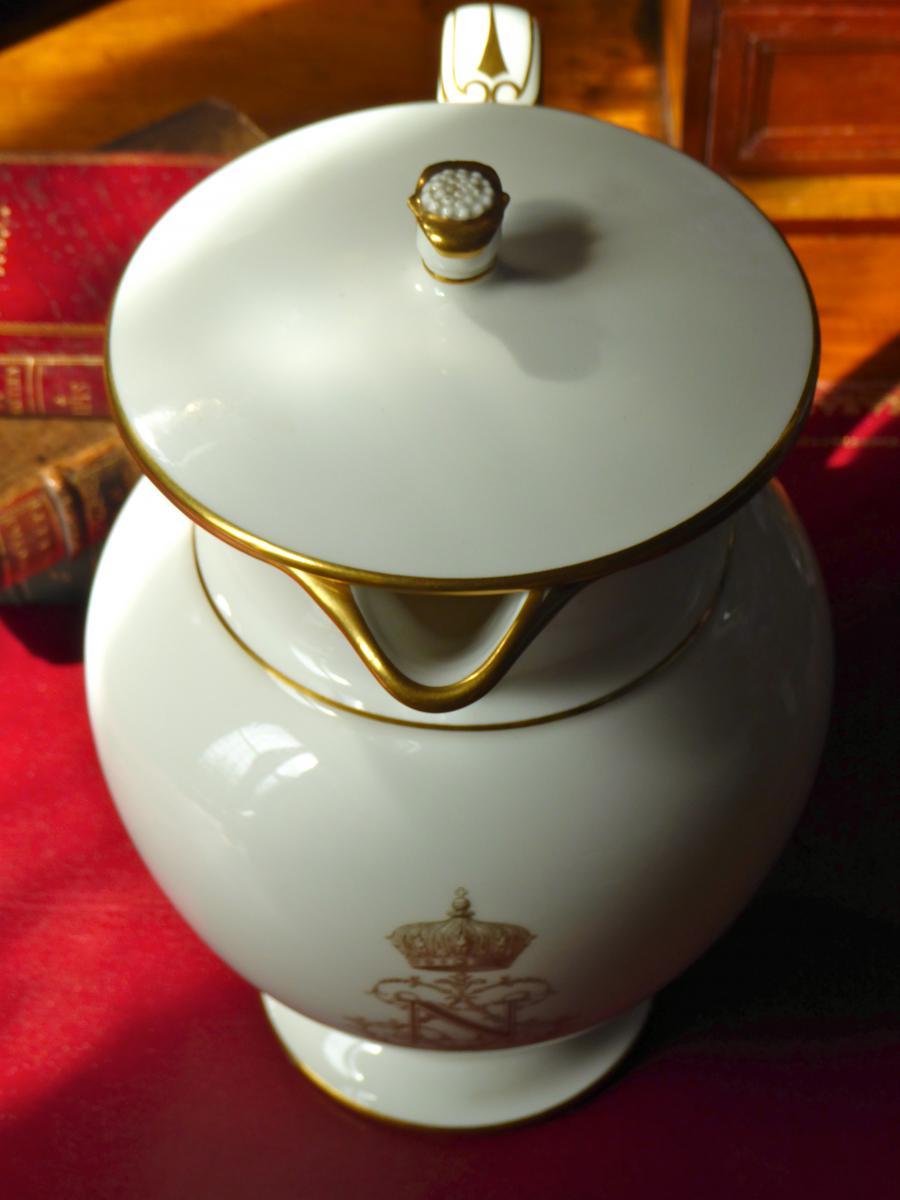 Pot à Décoction Manufacture Impériale De Sèvres XIX ème Siècle-photo-1