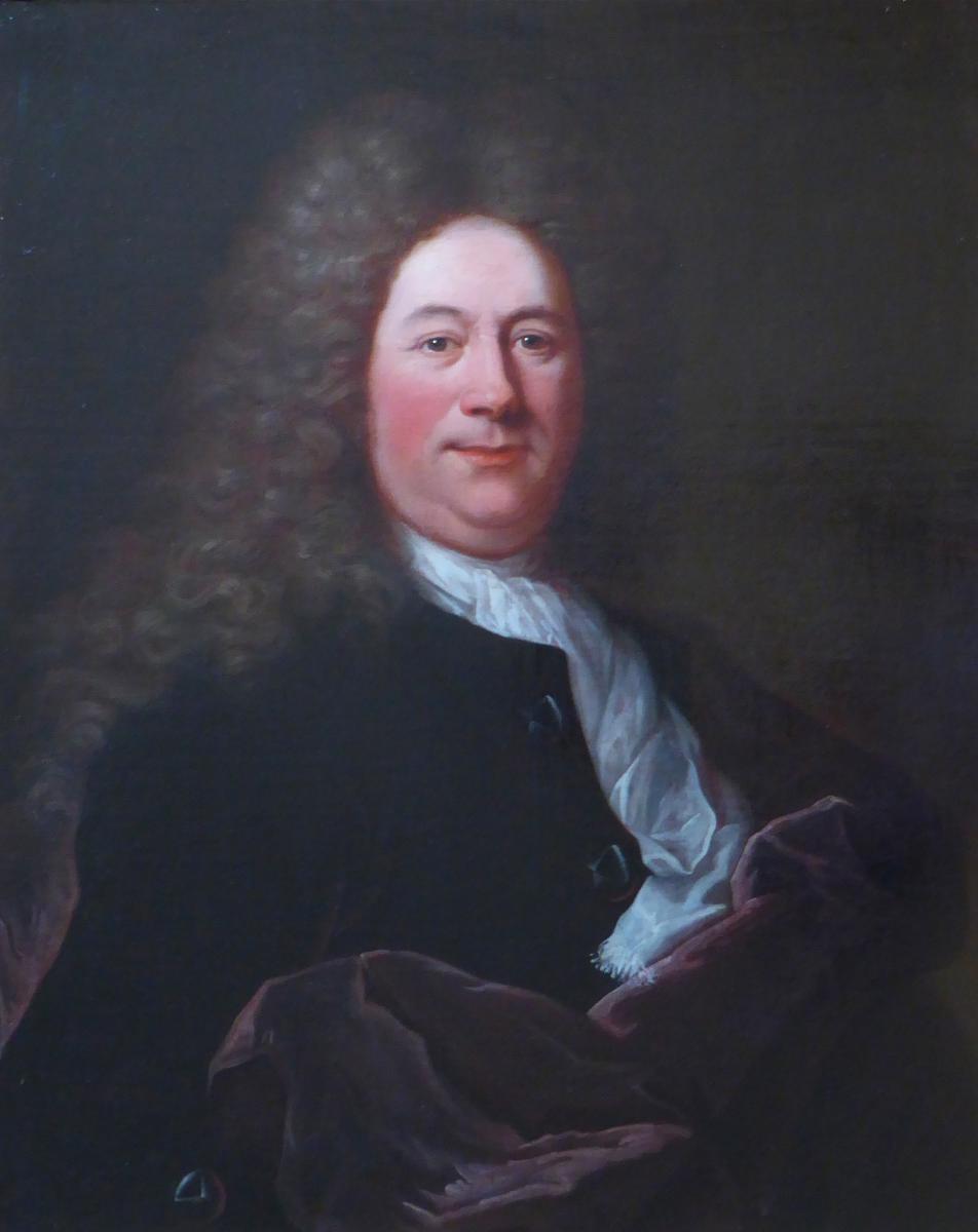 Portrait de Charles Coulletier (1638 - 1702) entourage de Hyacinthe Rigaud