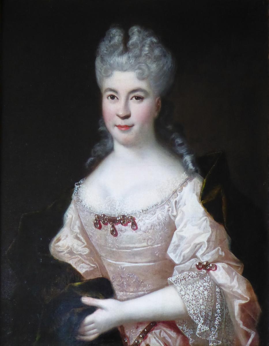 Portrait d'une Dame de qualité par Hendrich Van Limborch 1680-1758
