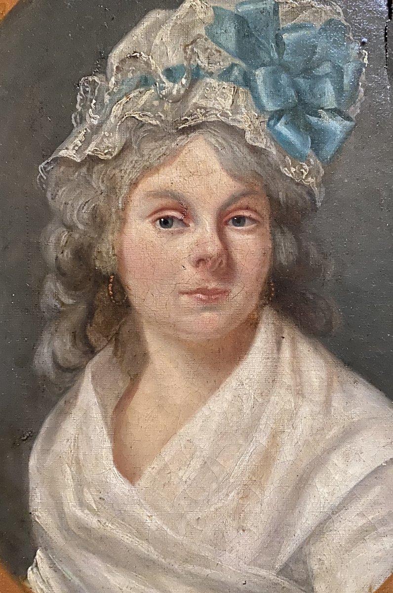 Portrait d'une dame de qualité, travail directoire.