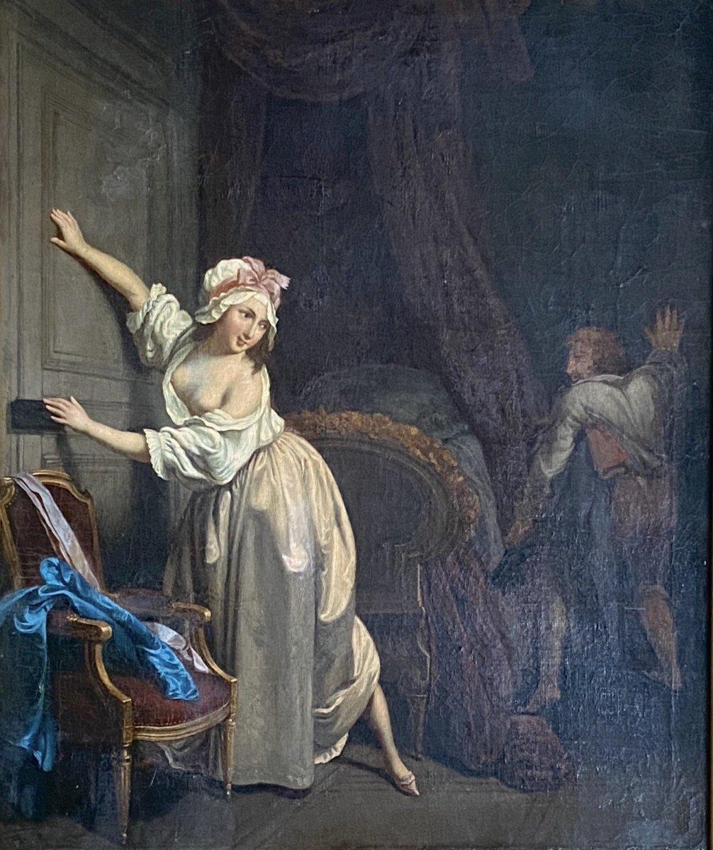 L'amant favorisé, d'après Louis Léopold boilly, travail XIX ème.