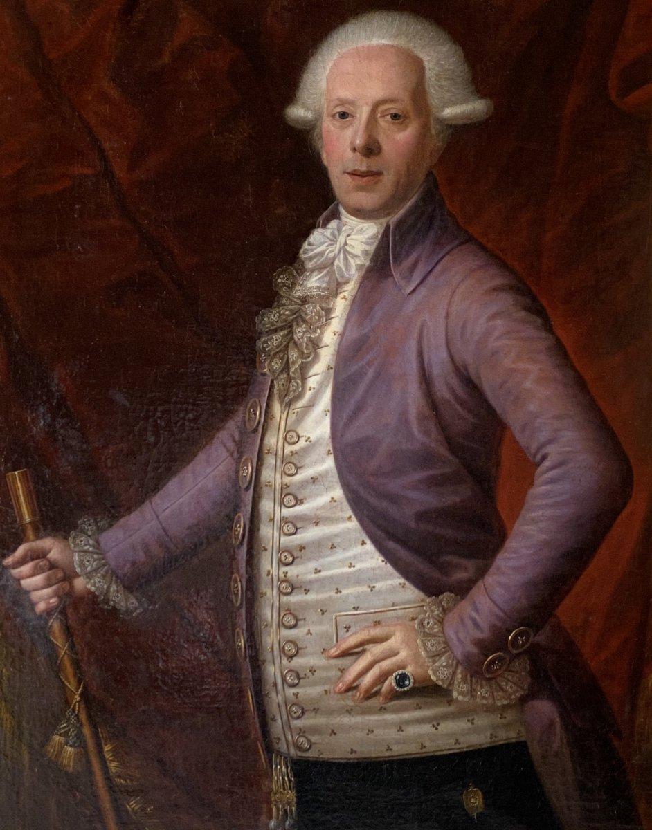 Portrait d'un gentilhomme, travail XVIII ème.