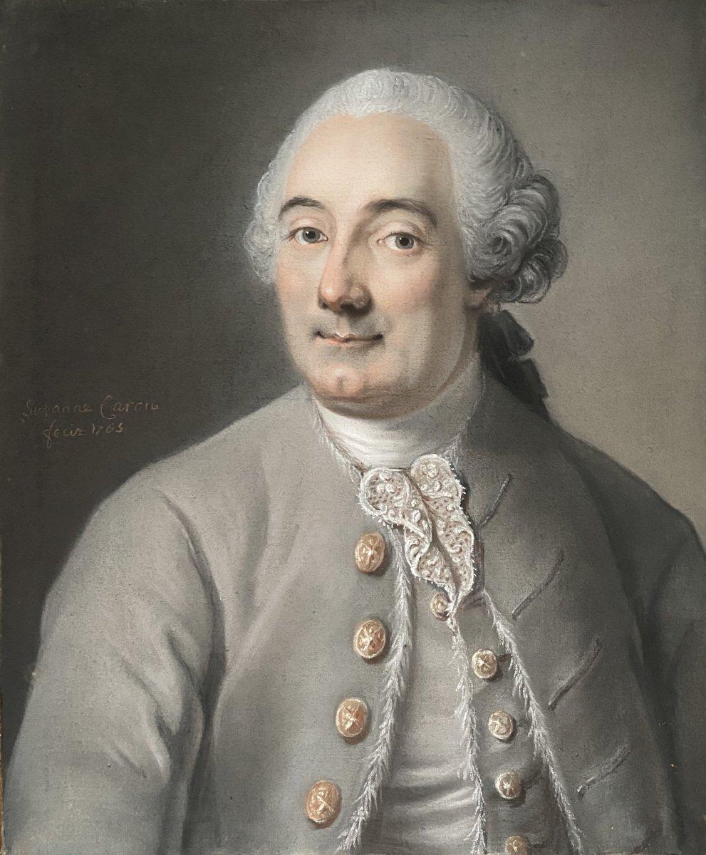 Portrait d'un gentilhomme, travail XVIII ème d'époque Louis XV .