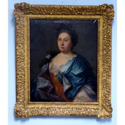 Portrait d'Une Dame De Qualité XVIII ème