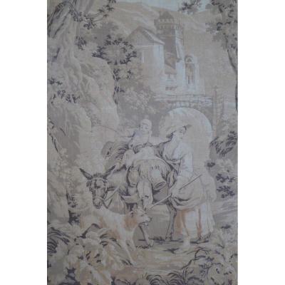 Paire de tapisseries XIX éme, scènes champêtres