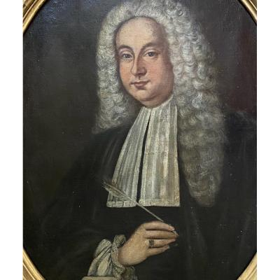 Portrait d'un homme de loi, travail XVII ème italien.