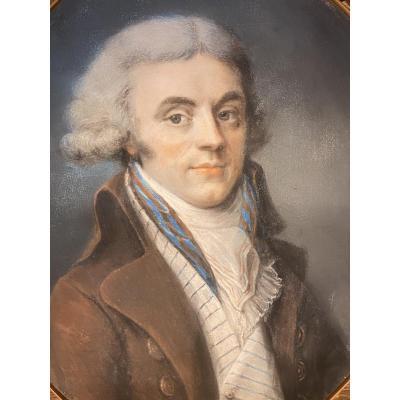 Portrait d'homme, fin XVIII ème.