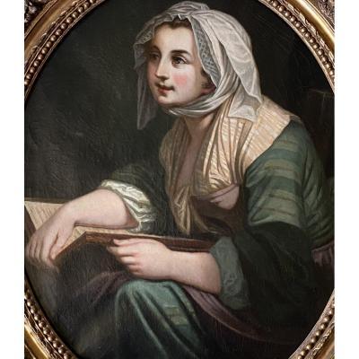 L'hiver, travail XVIII ème d'époque Louis XV.