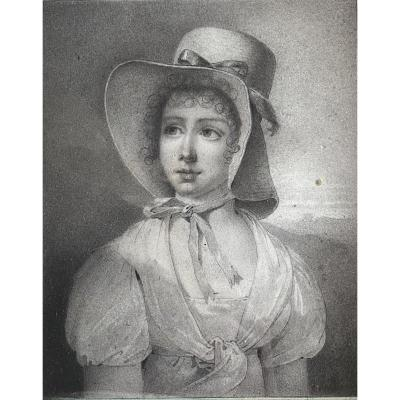 Portrait Of A Young Woman, Early 19th Century Work.