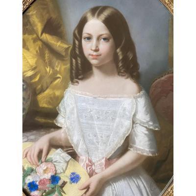 Portrait de Blanche de Monjulin, par Constant Joseph Brochart