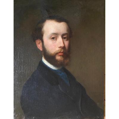 Portrait d'un homme , travail XIX ème siècle .