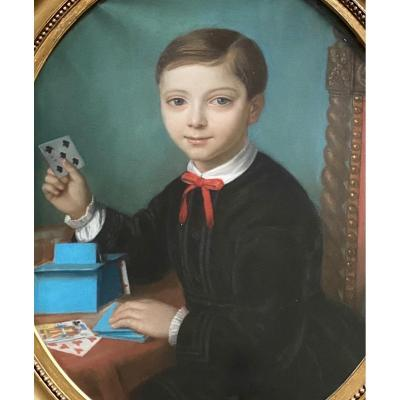 Portrait Of A Young Tree Playing Cards, Pastel XIX.