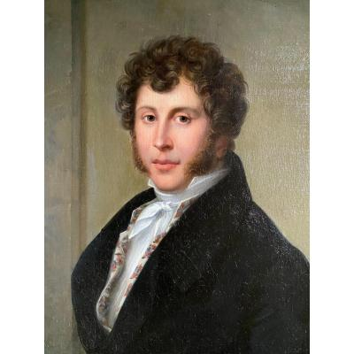 Portrait Of A Dandy, Work Signed Weiss XIXth Century.