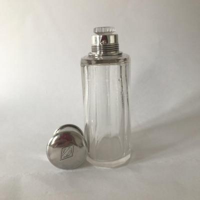 Flacon à Parfum En Cristal Et Argent