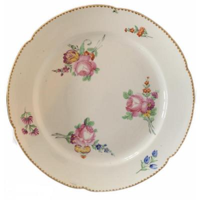 Plate From The Manufacture Parisienne By Marie-antoinette Around 1785