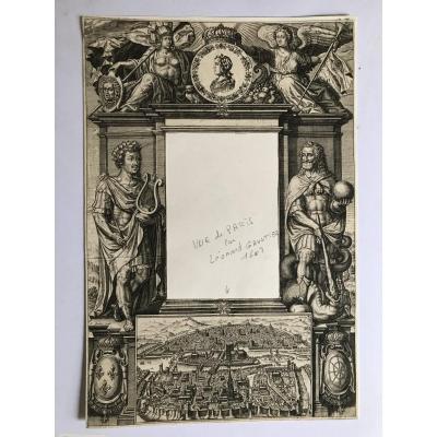 Bel Exemplaire de Frontispice Par Léonard Gaultier Vers 1610