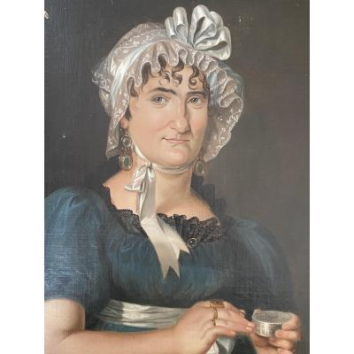 Portrait Of Woman From Empire Period