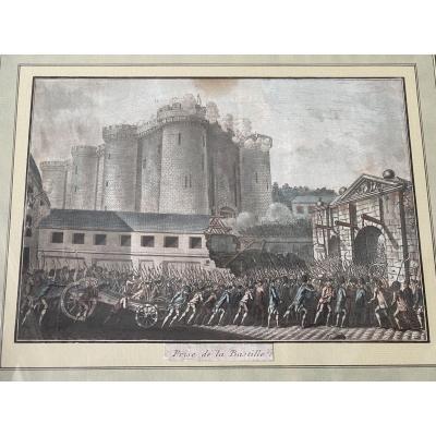 Gravure De La Prise De La Bastille