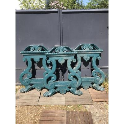 Series Of Three Balusters In Iron Cast 1920