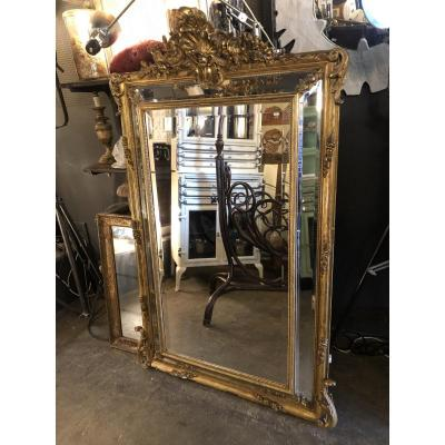 Nineteenth Golden Mirror With Parecloses