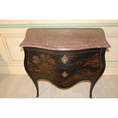 Commode En Laque Style Louis XV 19 ème