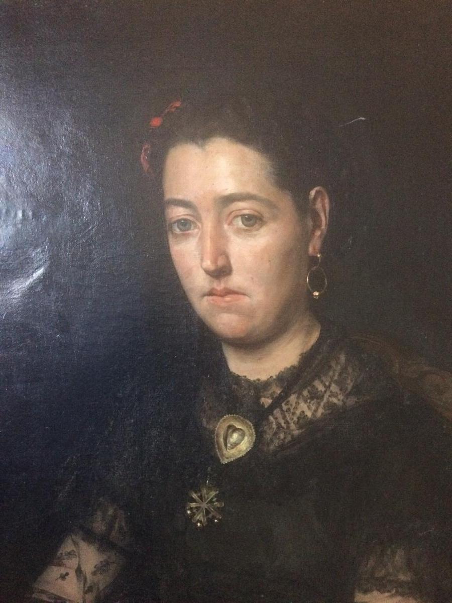 Edouard Hippolyte Margottet,1848-1887, Portrait 100 Cm X 81 Cm-photo-2