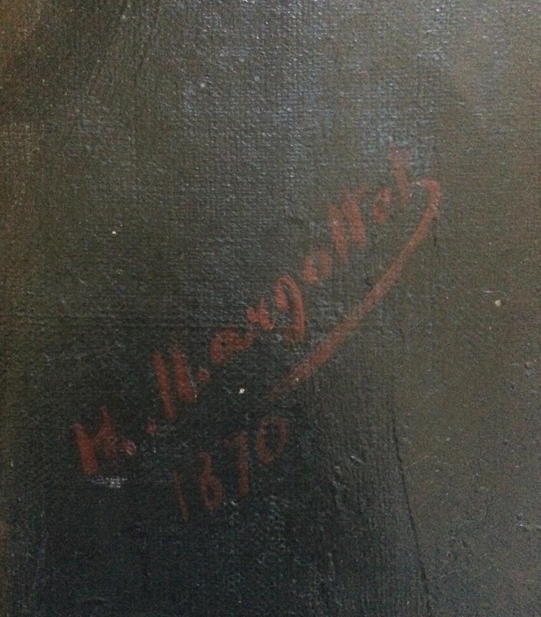 Edouard Hippolyte Margottet,1848-1887, Portrait 100 Cm X 81 Cm-photo-1