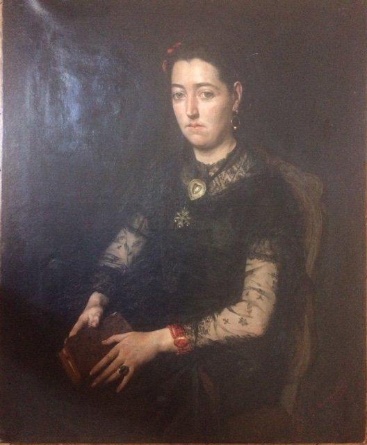 Edouard Hippolyte Margottet,1848-1887, Portrait 100 Cm X 81 Cm