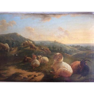 Balthazar Paul Ommeganck 1755 - 1826 Berger Et Son Troupeau