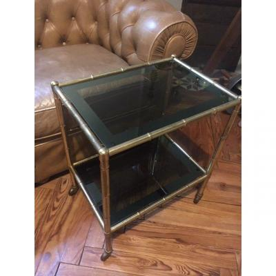 Gilt Metal Bamboo Table