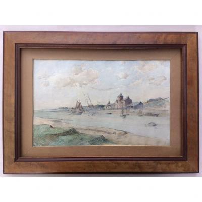 Maurice Lévis - 1860-1940     Bateaux Dans Un Havre