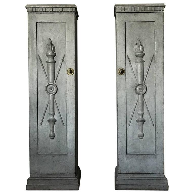 Paire De Colonnes Suèdoises De Style Gustavien, Circa 1850
