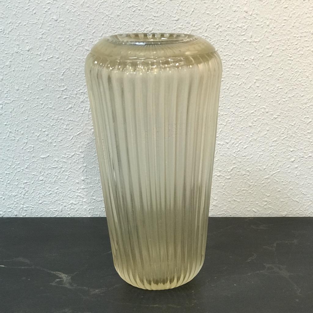 Vase En Cristal De Murano Signé Fratelli Toso, 1950s