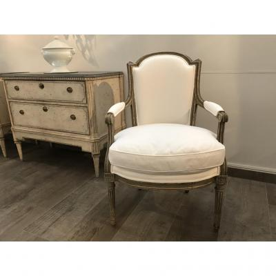 French Louis XVI Style Armchair, Circa 1880