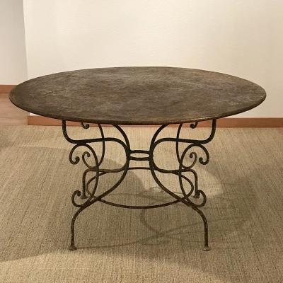 """Table """"Parisienne"""" en Fer Forgé, Circa 1880"""